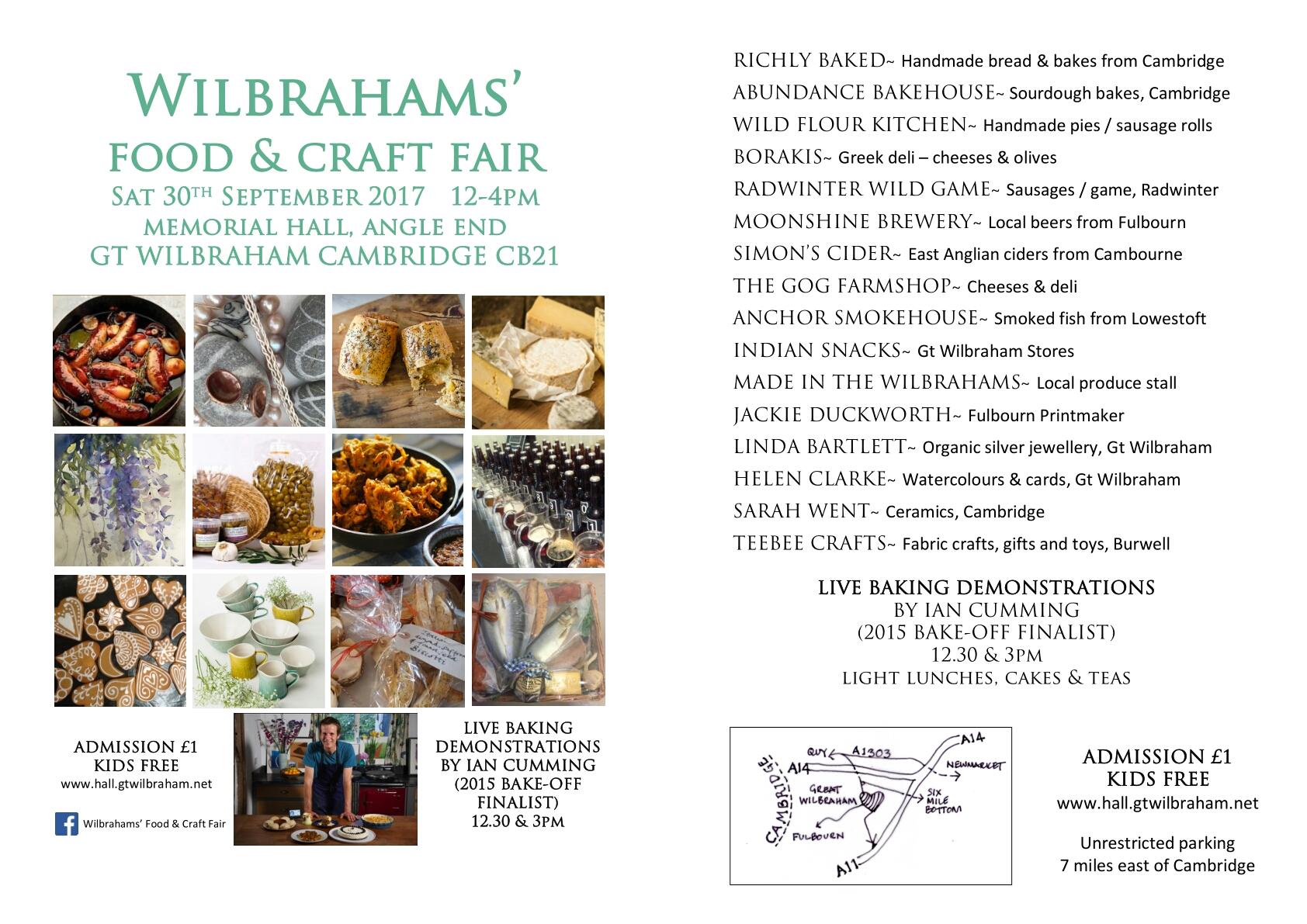 Wilbrahams' Food and Craft Fair @ Wilbrahams' Memorial Hall