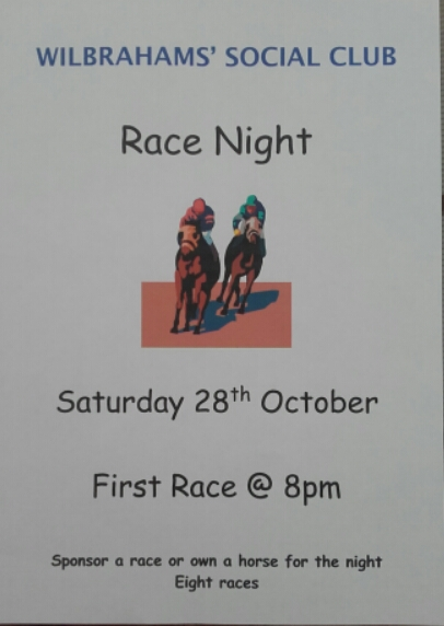 Race night @ Wilbrahams' Social Club