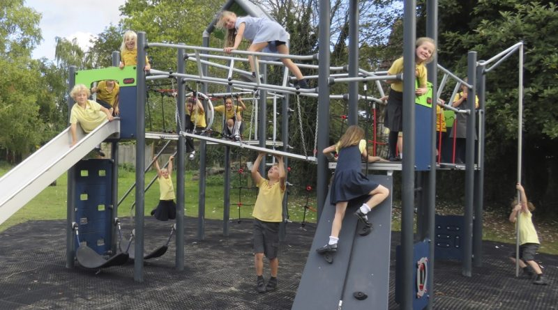 New Playground Hums with Excitement