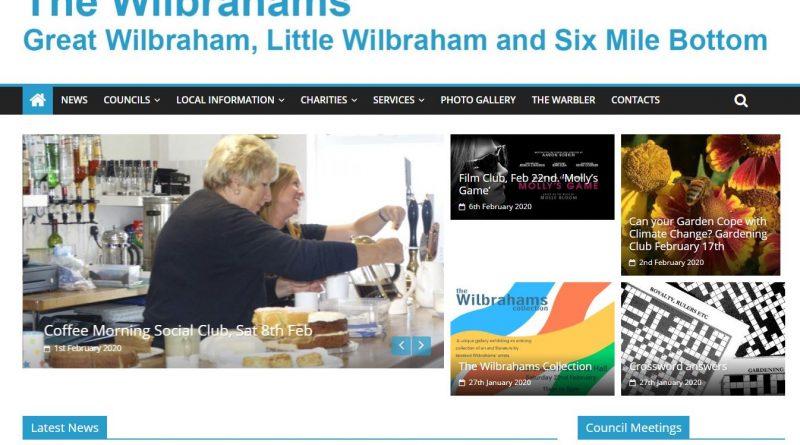 Wilbrahams' Website News