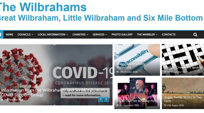 The Wilbrahams' Website News
