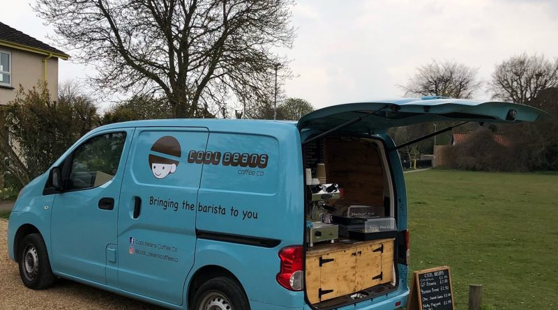 Mobile coffee van here on Tuesdays