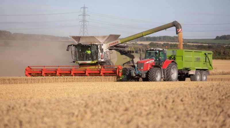 Image of Combine Harvester on Home Farm