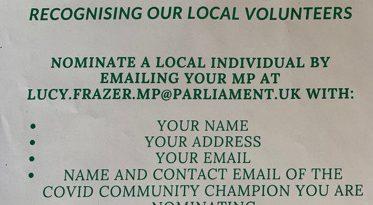 Nominate Your Covid Community Champion