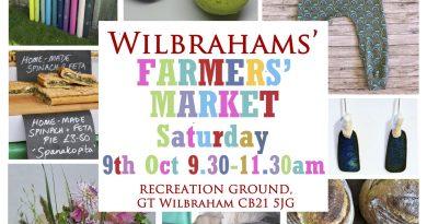 Farmers' Market tomorrow from 9.30 to 11.30